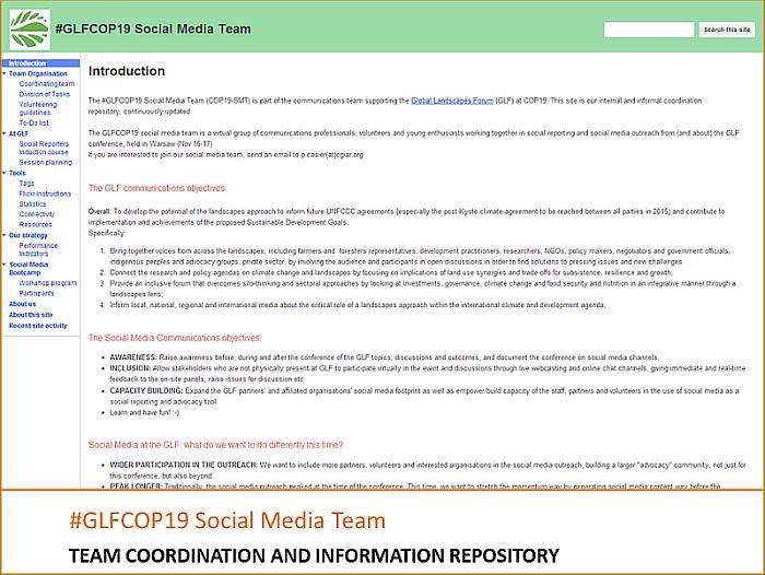 GLFCOP19 Social Media Team