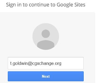 Sign in to CGXchange as of Dec 22, 2016 - Moving from Google